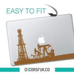 Oil Platform Macbook Stickers on black vinyl   Laptop stickers   Macbook Decals