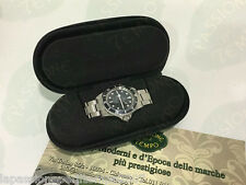 Watch Box Custodia Monoposto Nera con Zipp per Orologio Sportivo Idea Regalo