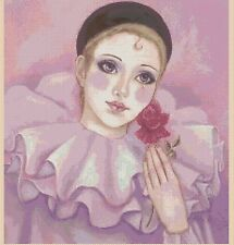 Pierrot Counted Cross Stitch COMPLETE KIT #7-411