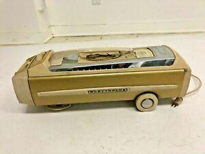 Vintage Electrolux Vacuum Cleaner SUPER J canister gold MODEL 1401 sled WORKS