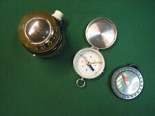 3 Vintage Compasses