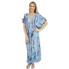Tie Dye Plus Size Dresses for Women with Kimono Sleeve