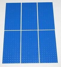 LEGO LOT OF 6 NEW BLUE 8 X 16 DOT PLATES BLOCK BLOCKS PIECES