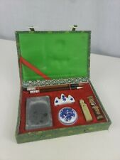 Vintage Chinese Calligraphy Set Old Writing Box Kit China
