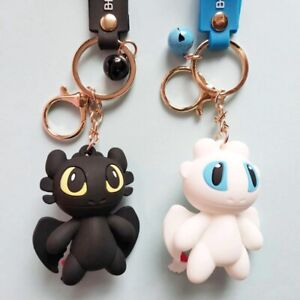How To Train Your Dragon Toothless Light Fury Cute Dragons Keyring Keychain