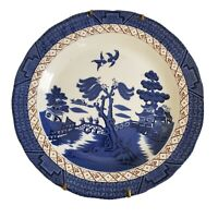 """Royal Doulton Majestic Collection Booths Real Old Willow Dinner Plate 10"""" Blue"""