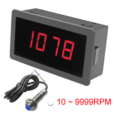 Digital Red LED Tachometer RPM Speed Meter Gauge & Hall Proximity Switch Sensor