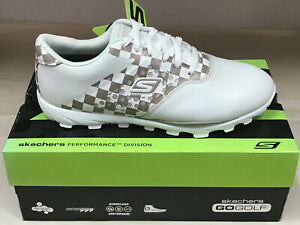 NEW Skechers Go Golf White/Natural Womens Golf Shoes 10M WATERPROOF Were $100