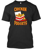 Chicken Puggets Funny Pug - Premium Tee T-Shirt