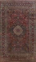 Pre-1900 Antique Vegetable Dye Dorokhsh Area Rug Palace Hand-Knotted Wool 11x16