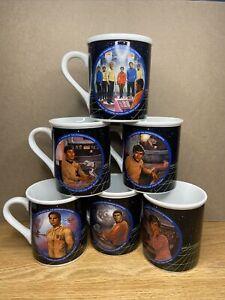 STAR TREK VINTAGE 1983 COFFEE MUG SET HAMILTON COLLECTION SET OF 6