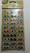 3D eye stickers googly wiggly eyes self adhesive 30 pack craft embellishments