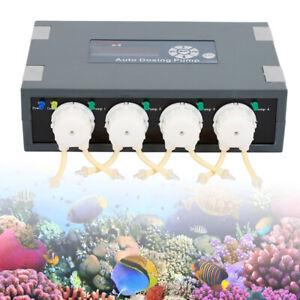 Jebao Auto Dosing Pump DP-4 Marine Aquarium Coral Feeder Reef Dosing Pump New