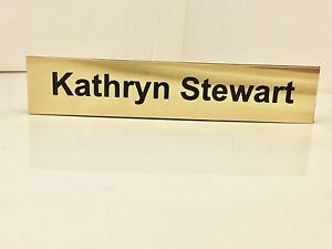 Personalised Desk Name Plate Plaque Sign Engraved Any Name any position 2 lines