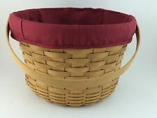 Longaberger 2003 Large Fruit Basket w Liner Paprika