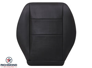 2008-2014 Mercedes Benz C-Class - Driver Side Bottom Leather Seat Cover Black
