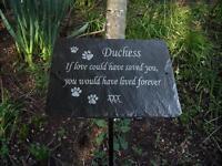 Pet Memorial Slate Plaque Personalised for your Dog - Cat - Rabbit - Bird or Pet