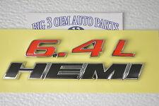Dodge Chrysler Jeep Red and Black 6.4L Hemi Emblem Nameplate new OEM 68146064AB