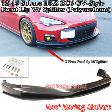 GV Style Front Bumper Lip + Lower Splitter (Urethane) Fit 12-16 Subaru BRZ