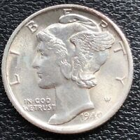 1940 S Mercury Dime 10c High Grade BU #31330