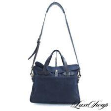 #1 MENSWEAR Filson Garment Made in USA 70256 Navy Canvas Leather Satchel Bag NR