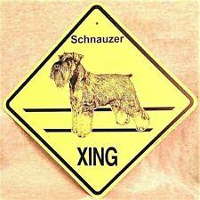 Schnauzer Xing Dog Sign