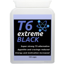 100 T6 EXTREME BLACK strong diet pills SLIMMING/WEIGHT LOSS; hardcore fat burner