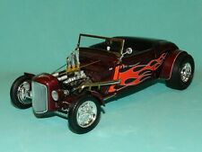 1 18 1934 Ford Roadster Hot Rod Brandywine W/flames ACME