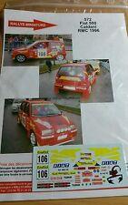 Decals  1/43 réf 572 Fiat 500 Caldani Monte Carlo 1996