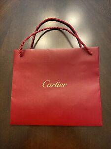 """Cartier Shopping Gift Paper Bag 10"""" x 9"""" x 3"""""""