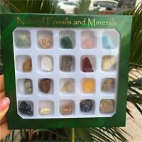 Set of 20 Healing Crystal Natural Gemstone Reiki Chakra Collection Stone Kit UK
