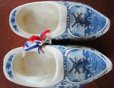 Holland Souvenir Delft Blue 4 Inch Clogs