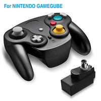 Wireless Gamecube Controller With Adapter for Retro Classic WiiGC NGC BLACK