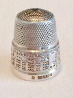 Rare Vintage Silver Thimble ft. WINDSOR Castle Relief by Thimble Collectors Club