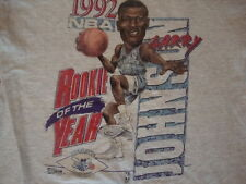 Vintage 1992 LARRY JOHNSON Charlotte Hornets Caricature Rookie T shirt s / M