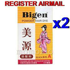 Japan Bigen Powder Hair Dye Color Black 6g Cover Gray Hair Simple Long Last x 2