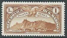 1931 SAN MARINO POSTA AEREA VEDUTA 1 LIRA MNH ** - X20