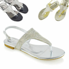 Essex Glam Synthetic Sandals Women's Buckle