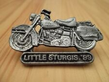 Little Sturgis Biker Rally 1999 Vintage Motorcycle Pin in Antique Sil Plate, NEW