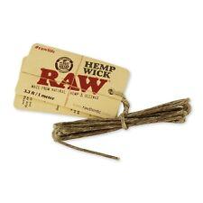 Raw Hemp Wick - Purest Natural Hemp & Beeswax - Unrefined - 3.3ft / 1 Meter