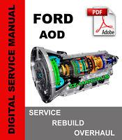 Ford AOD Transmission Service Repair Rebuild Overhaul Manual 1980-1991