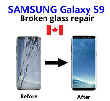 Samsung Galaxy S9 Cracked Glass ONLY/Working LCD mail-in Repair Service