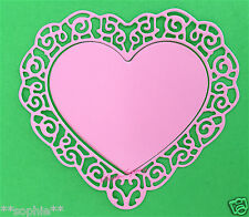 NEW ✿ Scallop Lace Double Heart Frame Die ✿ For Cuttlebug & Sizzix ✿