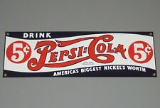- PEPSI COLA - Original Enamel American Collectable Advertising Sign Dated 1991