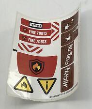 Lego New Sticker for Set 70813 Fire Flighter Pieces