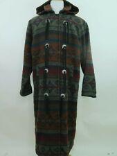 VTG Women's Woolrich Nordic Navajo Wool Indian Hooded Winter Coat Large USA EUC
