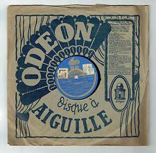 78T LOS CARACOLES Disque Phonographe LA MIMOSA Chanté HABANERA ODEON 183361 RARE