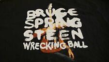 BRUCE SPRINGSTEEN WRECKING BALL WORLD  TOUR 2012 XL BLACK T-SHIRT MADE  IN USA