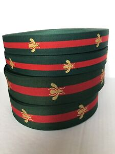 2 Yards Classic Gucci Bee Designer Inspired Ribbon 1.5 Inch