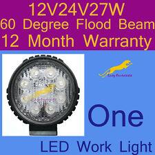 One LED Work Light 60 Degree 12V/24V/27W For Truck,Forklift 1 yr warranty BR27
